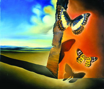 Salvador Dali Butterfly Paintings http://abhinarfatah.wordpress.com/lukisan/salvador-dali/